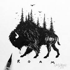 Brush Pen Bison Accidentally Smeared A Couple Parts Due The Ink 401 Best Images About Dessin On Pinterest Pen Illustration Howl L