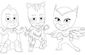 Pj Masks Coloring Pages Black And White Mask Coloring Pages Masks