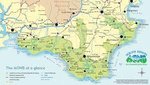 south devon aonb map south devon aonb goldendays scrapbook Uk Map Devon map of the south devon aonb map of devon uk