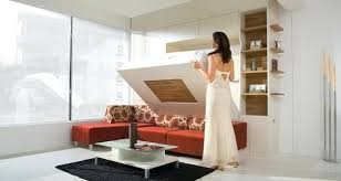 interior furniture photos. Space Saving Furniture Ideas Red Sectional Sofa Bed Low Coffee Table Functional Interior Designs With Modern Beds Photos