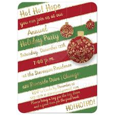 Holiday Party Invitation | Red, Green, White Candy Cane Stripes ...