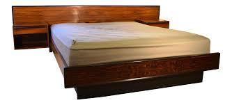 Rosewood Bedroom Furniture Westnofa Rosewood Platform Bed Floating Nightstands Chairish