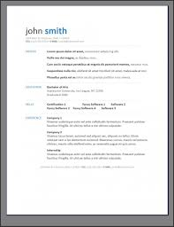 Free Contemporary Resume Templates Resumes Examples On
