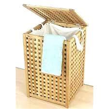 office delightful wooden laundry basket 4 wood solid bin walnut lattice at co box seat hamper