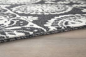 black patterned rug ikea and white large