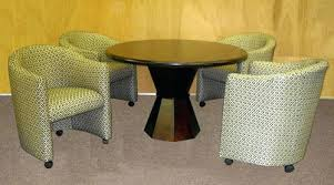 rolling dining chairs. Dining Set With Caster Chairs Excellent Room On Casters Design Ideas . Rolling