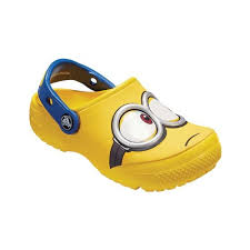 Infant <b>Crocs CrocsFunLab Minions Clog</b> Kids Size 10 M Yellow
