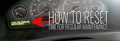 2001 Volvo S40 Service Light S80 T6 2001 Time For Regular Service Reset How To