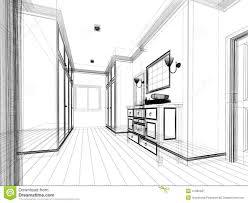 open closet door drawing. Abstract Sketch Design Of Interior Walk-in Closet. Furniture, Frame. Open Closet Door Drawing