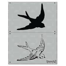 stencil1 swallow 2 layer stencil
