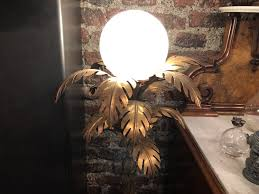 Antik Palmenlampe Hans Kögl Palm Lamp Antike Historische
