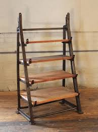 american vintage industrial custom factory cast iron wood shelving shelf storage unit for
