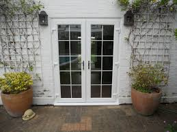 image of simple exterior french doors
