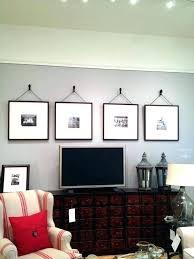 decor ideas hibiscus flat screen wall around tv above