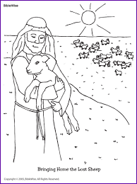 Small Picture Coloring Bringing Home the Lost Sheep Kids Korner BibleWise