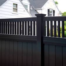 vinyl fence panels lowes. Decoration Knockout Black Vinyl Fence Fences Decorative Fencing Regarding Panels Lowes Your Property E