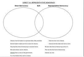 direct and representative democracy venn diagram direct vs representative democracy venn diagram activity