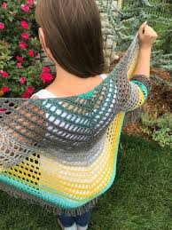 Crochet Shawl With Sleeves Pattern