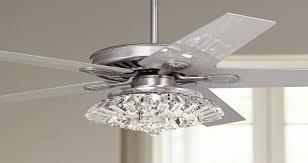 52 windstar ii steel crystal light kit ceiling fan
