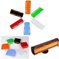 6 inch 8inch Amber Protective Covers Double Row LED Light Bar ...