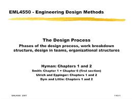 Engineering Design Phases Ppt Eml4550 Engineering Design Methods Powerpoint
