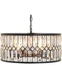 drum light chandelier. Kosas Home Irene 6 Light Drum Chandelier W56003581F H