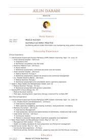 medical assistant resume samples visualcv resume samples database clinical dietitian resume