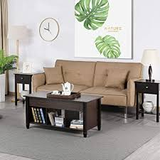 yaheetech lift top coffee table with