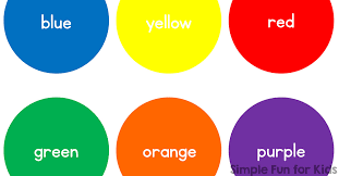 Basic Color Chart For Kids 8 Colors For Kids Basic Color Circles Simple Fun For Kids