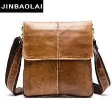 <b>JINBAOLAI Messenger Bag Men</b> Shoulder Bag Genuine Leather ...