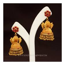 Buttalu Designs Gold Gold Jhumka Designs With Weight And Price South India Jewels