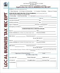 Business Receipt Sample Business Tax Receipt 5 Examples In Word Pdf