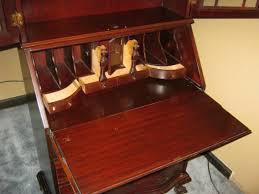 antique secretary desk hardware image and candle
