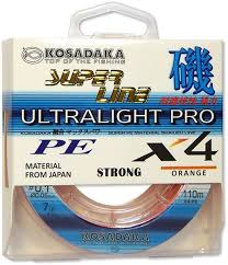 <b>Леска</b> плетеная Kosadaka Super Line PE X4 <b>Ultralight</b> Pro Orange ...
