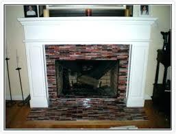 glass tile fireplace surround ideas mosaic firepla