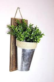 galvanized wall planter modern and elegant vertical pots ideas galvanized metal wall planter