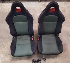 2002 2005 honda civic si oem seats seat ep3 black red stitching 02 03 04 05