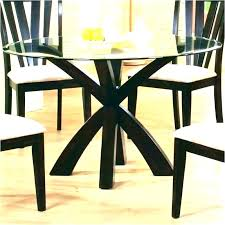 60 round glass top pedestal dining table inch home dinin