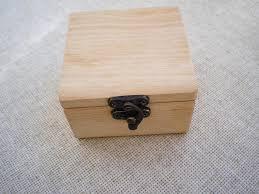 wooden ring box unfinished wedding ring box jewelry box image 0