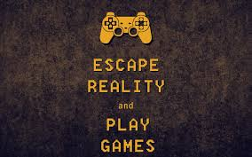 🥇 Video games escape reality keep calm ...