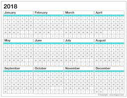 excel 2018 yearly calendar printable calendar for 2018 yearly calendar template excel pdf word