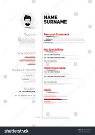 Minimalist Resume Minimalist Cv Resume Template Simple Design Stock Vector 100 60