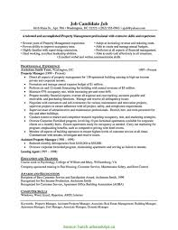 Simple Sample Resume Property Management Position Awesome Leasing