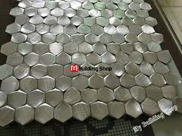 Metal Wall Tiles For Kitchen 3d Mosaic Silver Metallic Mosaic Tiles Backsplash Smmt109