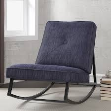 Overstock Living Room Chairs Metal Frame Rocking Chair Indigo Linen With Shieldkleen To Be