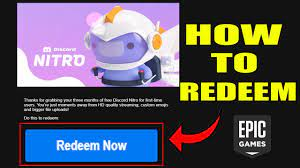 How to REDEEM FREE Discord Nitro from Epic Games | REDEEM Epic Games  Discord Nitro FREE - YouTube