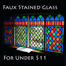 fake stained glass how to make stained glass windows with tissue paper google search diy faux