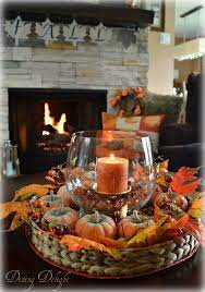 Keep the floral pumpkins in your refrigerator until party time to help extend their shelf life. Fall Coffee Table Centerpiece Coffee Table Centerpieces Fall Coffee Table Fall Thanksgiving Decor
