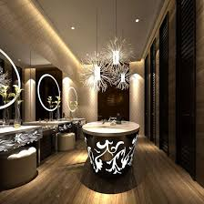small chandelier for bathroom. Luxury Small Chandelier For Bathroom Modern Public Restroom Interior Wit 3D Model Large Version H
