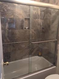 get rid of the shower curtain get a shower door like this one recently installed in houston